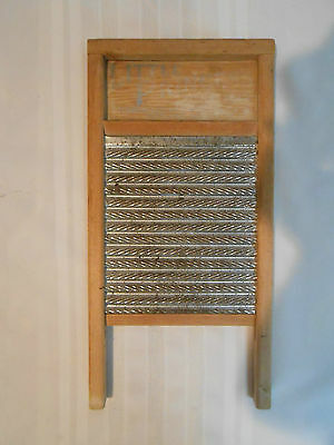 "Antique Wood Tone ""little Princess"" Washboard~""columbia Ladder & Woodenaware Co"""