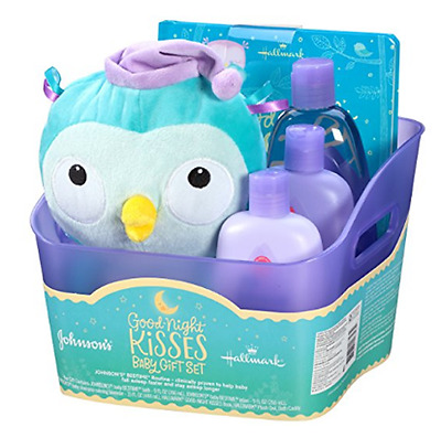 Johnson's Baby Shower Gift Set Newborn Basket (5 Items) Bath Lotion Shampoo NEW