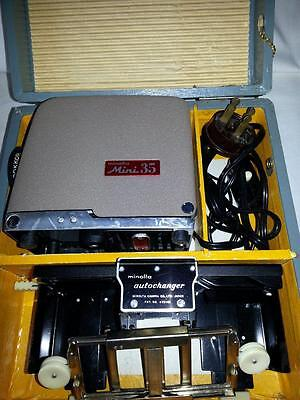 Minolta Mini 35 Slide Projector, with Carriers and Original Box.