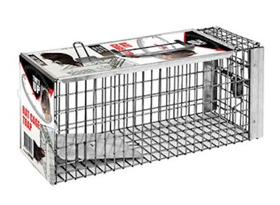 The Big Cheese Rat Cage Trap - Galvanised Steel - Simple, fail-safe setting