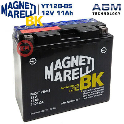 Batteria Magneti Marelli Yt12B-Bs Ducati Monster Dark 620 2002 2003 2004 2005