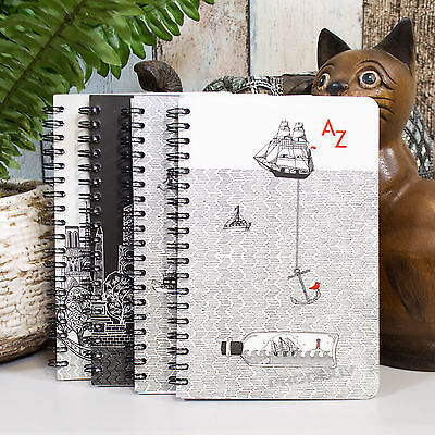 Spiral A6+ 100 Page A-Z Tabbed Index Address Book Charlene Mullen Notebook Pad