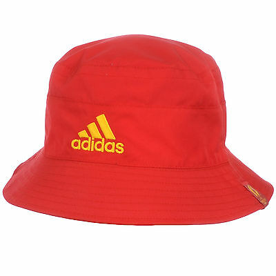 adidas Performance Mens Spain Euro 2016 Football Reversible Bucket Hat Red
