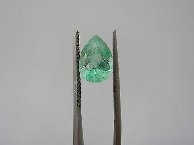Smeraldo Colombia Naturale Goccia, Natural Emerald, 3,3 ct 12x9 mm circa