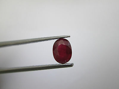 Rubino Glass Feeling Ovale, Ruby 1,59 ct 8x6 mm circa
