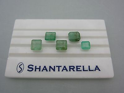 Lotto Smeraldi Colombia Naturali Rettangolari, Natural Emerald 11,76 ct 5 pezzi