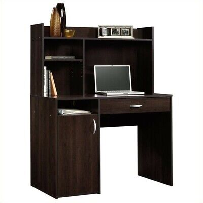 Computer Desk Workstation Table With Hutch In Cinnamon Cherry Transitional