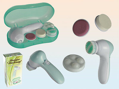 4 in 1 Portable Electric Facial  Exfoliator, Massager & Cleanser Plus Brush NEW