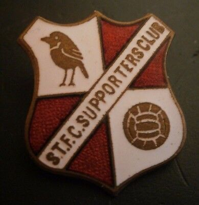 Swindon Town S.T.F.C Supporters Club Tail Down Football Brooch Pin Badge