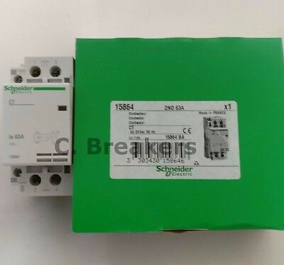 Schneider Merlin Gerin 15864 Multi9 Contactor CT 2NO 63A Amp 2P Double Pole