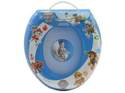 Ptrow Paw Soft Padded Toilet Seat Blue Training Seat WC Kids Trend