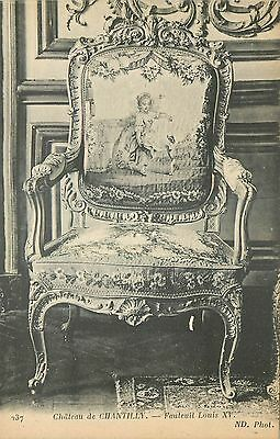 60 Chantilly Chateau Fauteuil Louis Xv Nd 46901