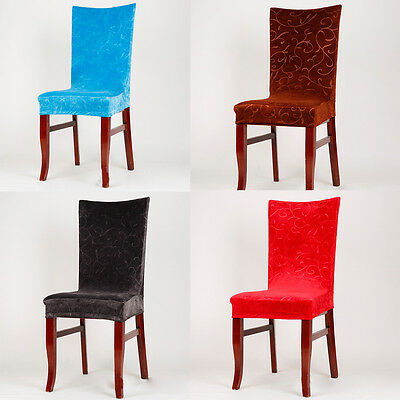 Velvet Blend Banquet Restaurant Kitchen Dining Chair Cover Seat Covers 8 Colors