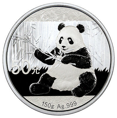 2017 China 150g Silver Panda Proof PF ¥50 In Original Mint Packaging SKU45680