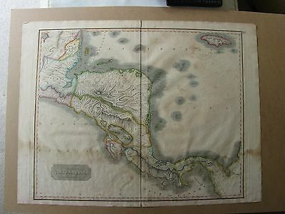 Spanish North America Southern Part 1817 Thomson Central America  antique map
