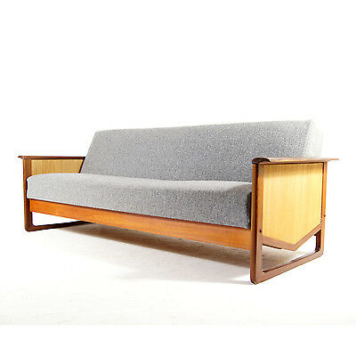 Retro Vintage Danish Modern Teak Daybed Double Sofa Bed 50s 60s 70s Studio Couch