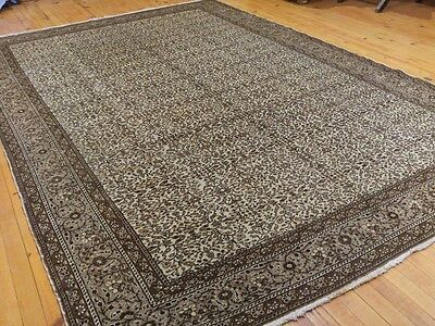Authentic Ca1900-1939s Antique 7x10ft Natural Wool Pile  Ottoman Hereke Rug