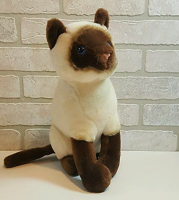 Siamese Cat Plush Stuffed Animal from The Plush Factory