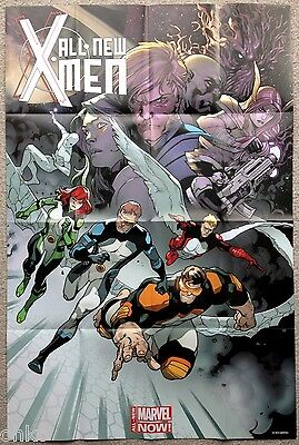 """MARVEL NOW! - ALL-NEW X-MEN FOLDED PROMO POSTER - 24"""" x 36"""" INCH - BRAND NEW"""