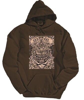 Grateful Dead Aiko Steal Your Face Hoodie LICENSED SYF Brown