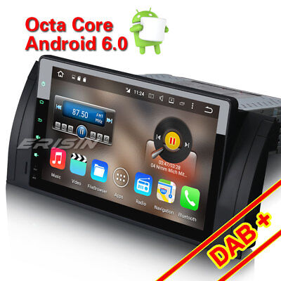 "Android 6.0 DAB+ 9""Car Stereo GPS Sat Navi WiFi Canbus For BMW 5er E39 X5 E53 M5"