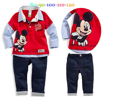 New Children size Mickey Mouse - Disney set shirts and pants for baby clothing