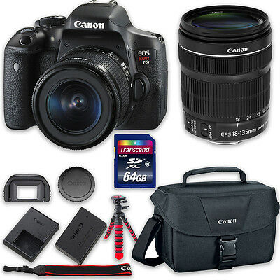 Canon EOS T6i DSLR Camera Bundle with Canon EF-S 18-135mm f/3.5-5.6 IS STM Lens