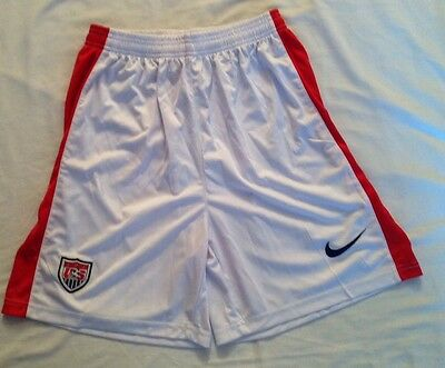 NIKE U.S. Soccer Youth XL Shorts White Red Athletic