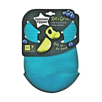 Tommee Tippee Explora  roll n go bibs  new colours age 7m+  boys/girls bpa free
