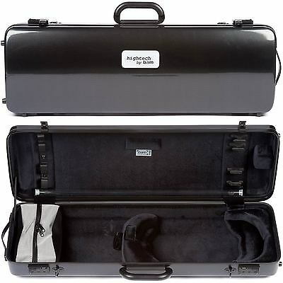 Bam France 2110XL Hightech 4/4 Violin Case: Black Carbon-Look Finish
