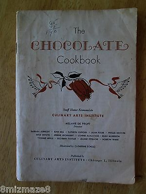 "vintage 68 pages Culinary Arts Institute ""The Chocolate Cookbook"" 1955 recipes"