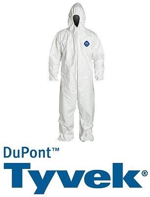 Dupont Tyvek Suit Asbestos Mould Protective Spaceman Coverall Disposable White