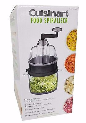 Cuisinart Food Spiralizer 3 Cutting Options BPA Free Safe Blade Lock