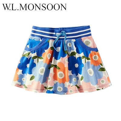 Girls Skirts Pure Cotton Summer Robe for Kids Clothes Character with Foral Print
