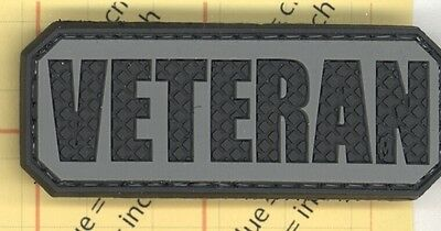 PVC Swat VETERAN PATCH Military Tactical Army Morale VET USA Soldier acu grey