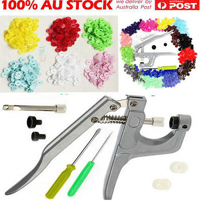 Mixed Button Fastener Snap Pliers 350ps T5 Plastic Resin Press Stud Cloth Diaper