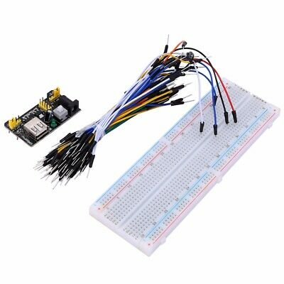 MB102 830 Steckbrett Breadboard + Jumper Wire Kabel + Netzteil-Adapter SET