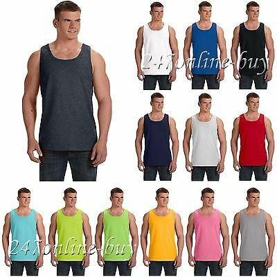 Fruit Of The Loom Mens Tank Top Shirt 100% Heavy Cotton HD S-2XL 39TKR