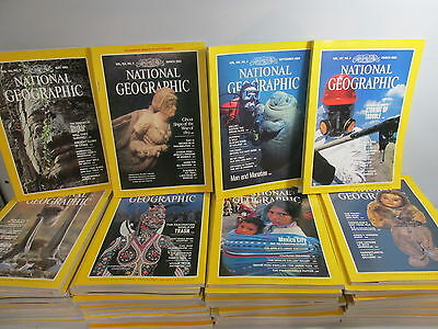 National Geographic Magazine set x 48 issues, Complete run 1982-1985