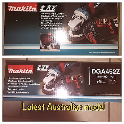 MAKITA DGA452 18V LXT LI-ION CORDLESS ANGLE GRINDER Latest Australian Model