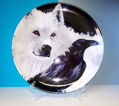Wolf and Crow porcelain decorative plate homedecor Russia