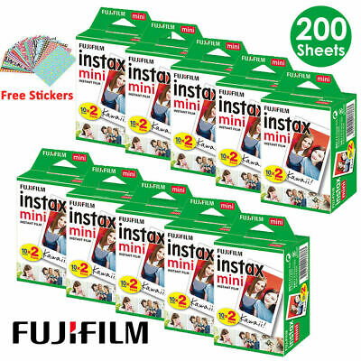 Fujifilm Instax Mini White Film Fuji 7s 8 70 90 SP-1 Polaroid 300 Instant Photos