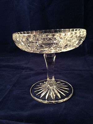 "Vintage 6"" Crystal Compote/ Candy Dish"