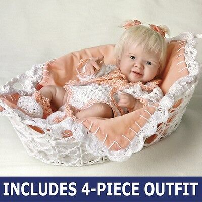 Princess in Peach ~ So Truly Real Doll By Ashton Drake ~ Crocheted Outfit!!!