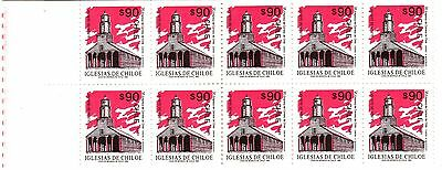 Chile, Churches Of Chiloé 1995, Stamp Booklet With 10 Stamps, Mint Never Hinged