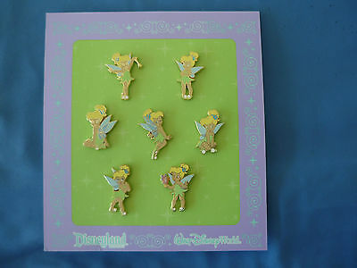 TINKER BELL  Disney  Pin  SET of 7  New   on card 2009  CUTE !! Tinkerbell