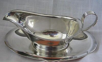 Alvin Sterling Silver GRAVY SAUCE BOAT w/ separate Underplate S118-9, No Monos