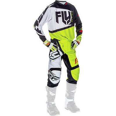New 2017 Fly F-16 Combo Jersey Pants Gloves Kit Lime Green 32 34 36 38 Motocross