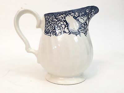 MYOTT MEAKIN Fine China White and Blue Pear Fruit Small Creamer Pitcher England