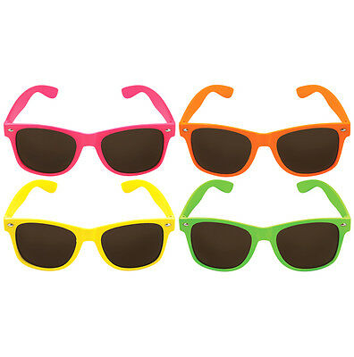 Unisex Novelty Glasses Neon With Dark Lens Adult Party Accessory